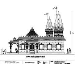 side view of Indian hindu temple