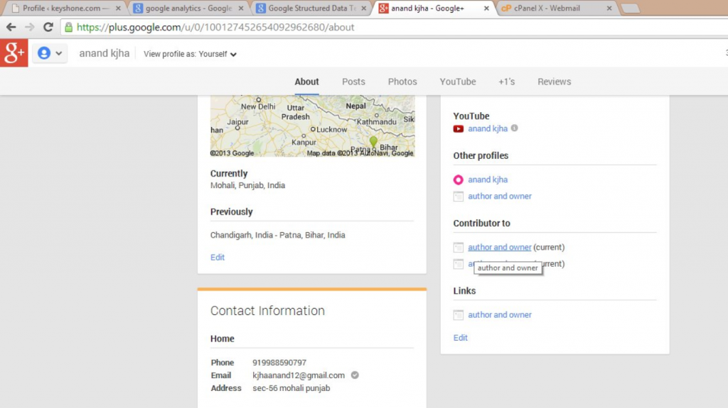 google+ about me page example