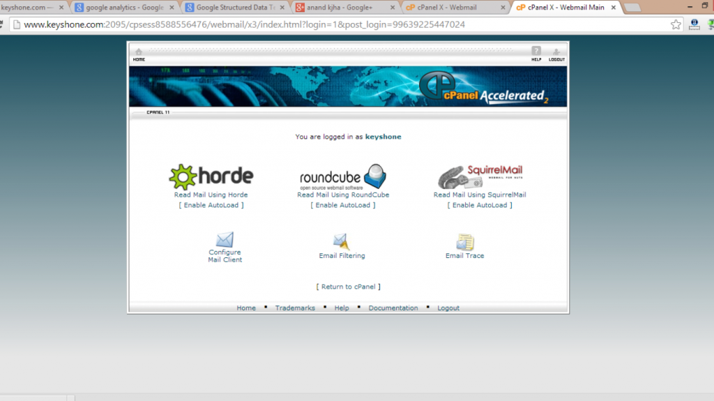 example cpanel email accounts