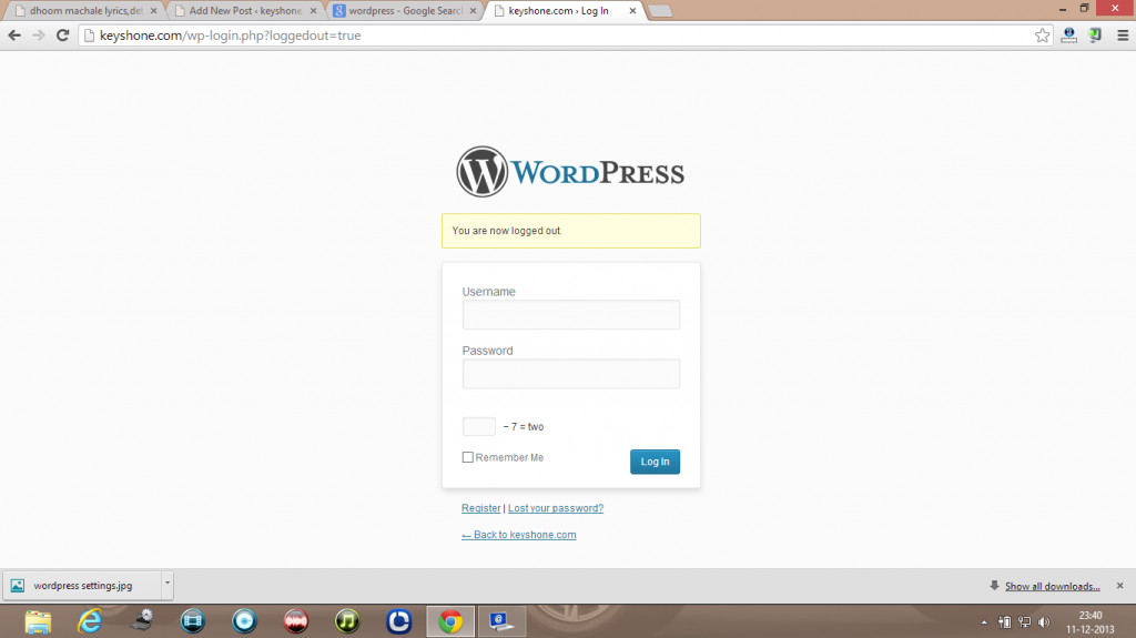 wordpress login image