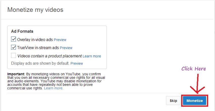 google adsense video monitization