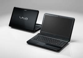 sony vaio laptop front view