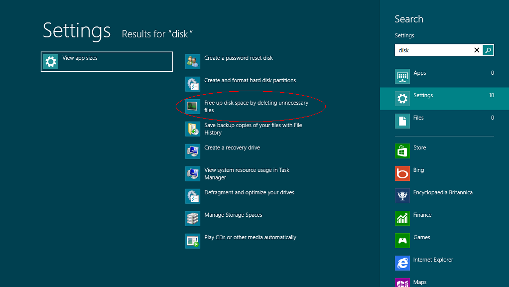 windows 8 search board
