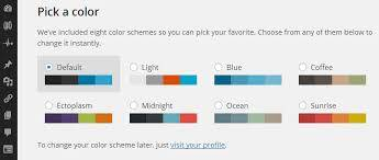 wordpress 3.8 color selection