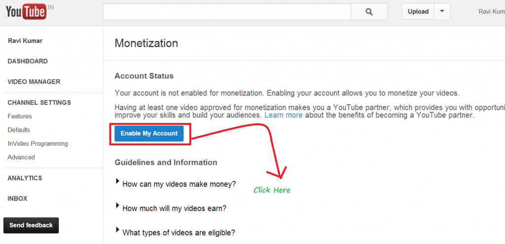 google adsense monetization