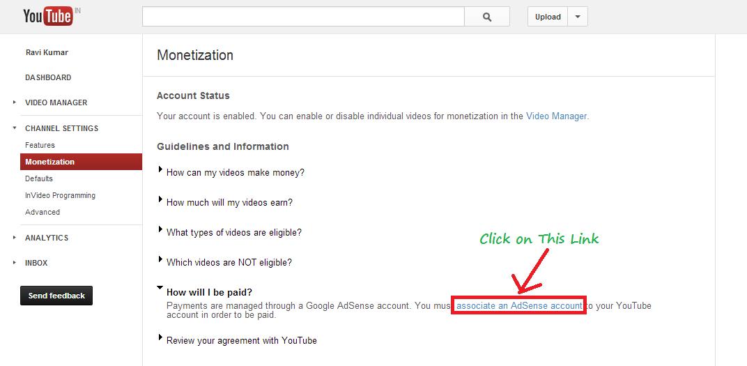 google adsense association