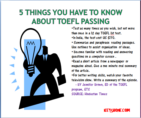five things you have to know about TOEFL passing