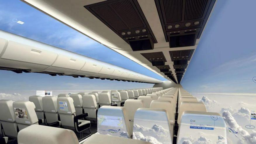 Window Less Aircraft Design cool invention and inventors of 2015
