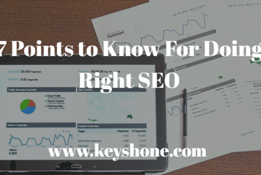 7 points to know for doing right seo