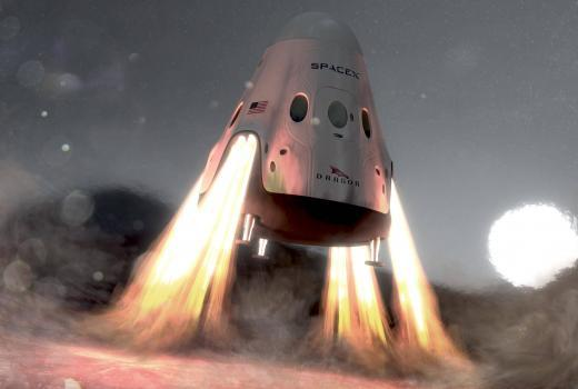 supersonic retro propulsion step to human class mission to mars