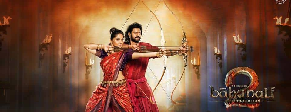 4 bahubali and devasena using archery to kill the enemies