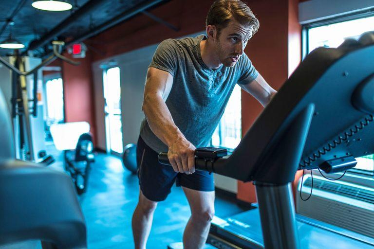 challenging yourself during treadmill exercise