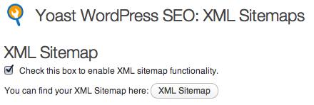 wordpress seo xml sitemap setting