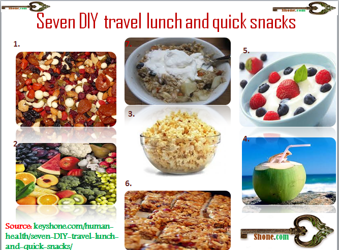 seven diy travel lunch and quick snacks